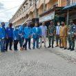 Dankipan C Yonif 126/KC Bersama Ketua DPD KNPI Labuhan Batu Laksanakan Kegiatan Baksos