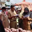 Jelang Idul Fitri 1442 H , Diskoperindag Bersama Polres Palas Sidak Ke Pusat Pasar Tradisional Sibuhuan