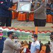 "Kapolres Rohul Hadiri ,"" Penyerahan Penghargaan Dan Bansos Dari SKK Migas Wilayah Sumbagut Kepada  Masyarakat Desa Pendalian"