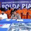 Polda Riau Gulung Oknum Pelaku Praktek Judi Online, 59 Tersangka Diciduk