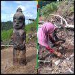 Pasutri Di Labura Temukan Sebuah Patung Yang Diduga Arca
