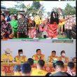 Tarian Adat Jawa, Sambut Kedatangan Bupati Labura Dan Rombongan Di Desa Sonomartani